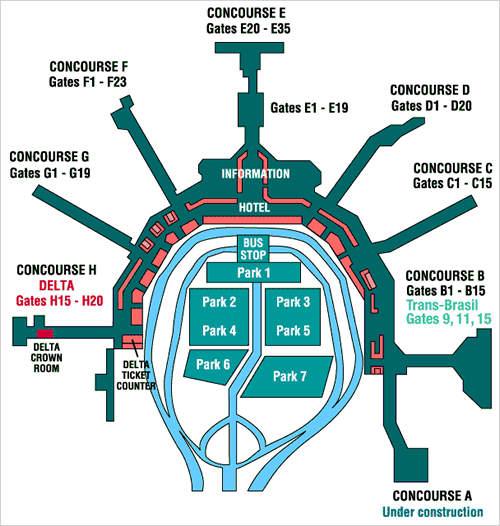 Hertz Rental Car Port Of Miami: Miami Airport MIA Miami Airport Terminal Map